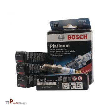 شمع موتور بوش پلاتینیوم سوزنی پایه کوتاه کونیک 6701
